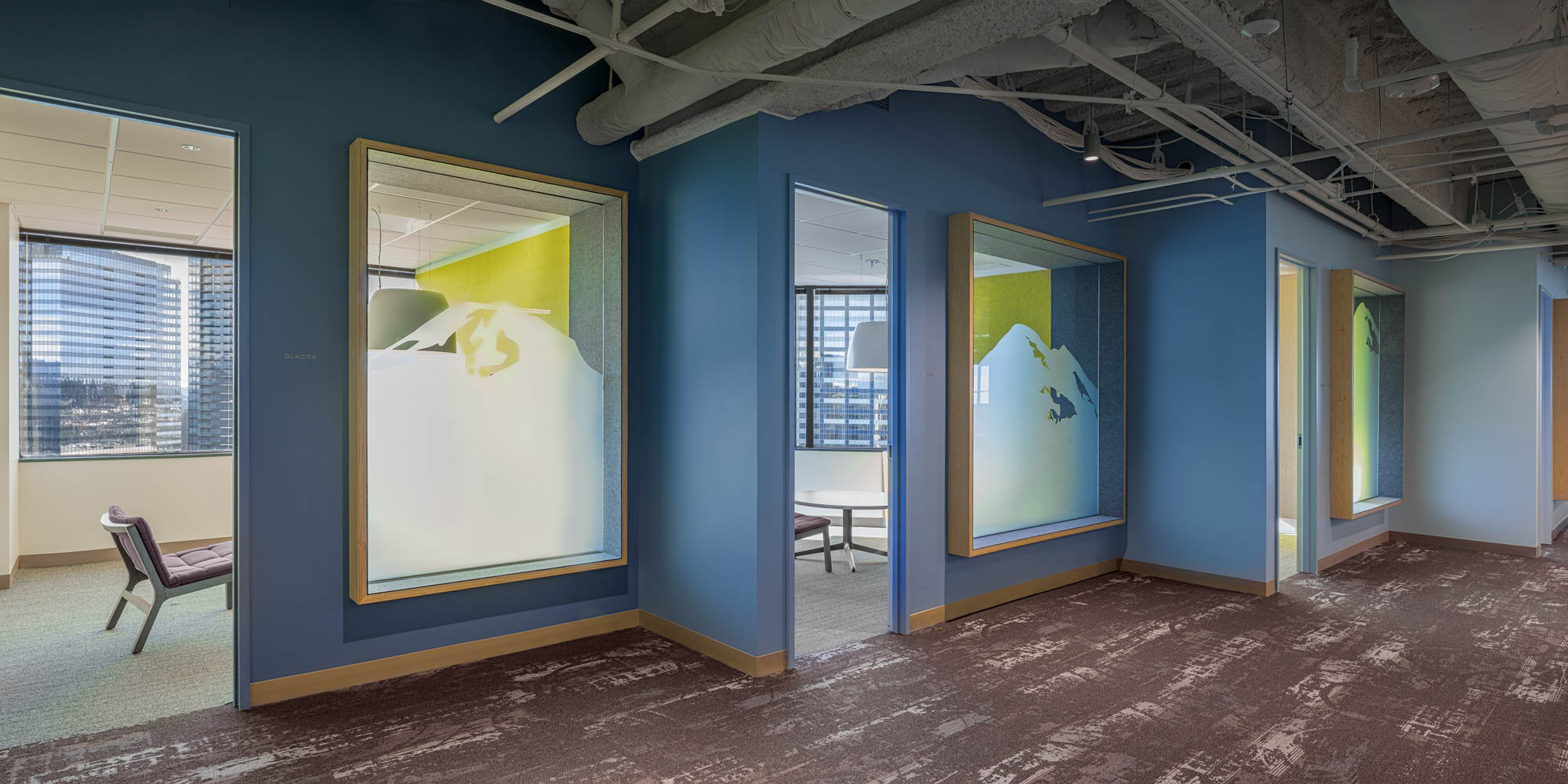 AOL Bellevue offices hallway interior view