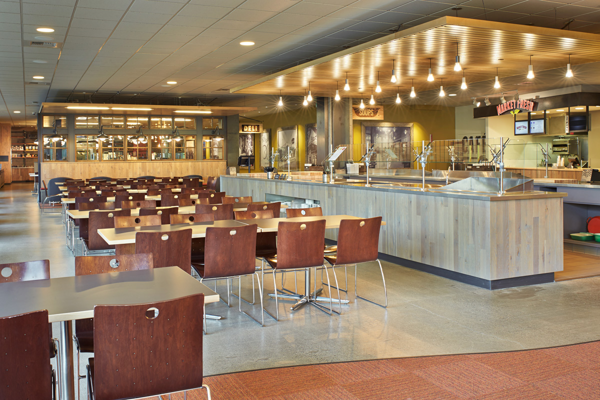 Microsoft B50 Cafe restaurant dining room