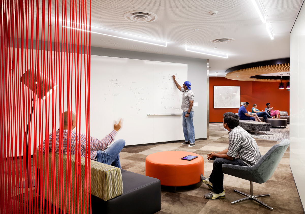 Microsoft B20 Renovation meeting space with white board wall