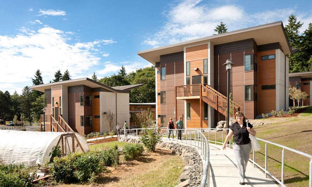 Bastyr University student housing exterior