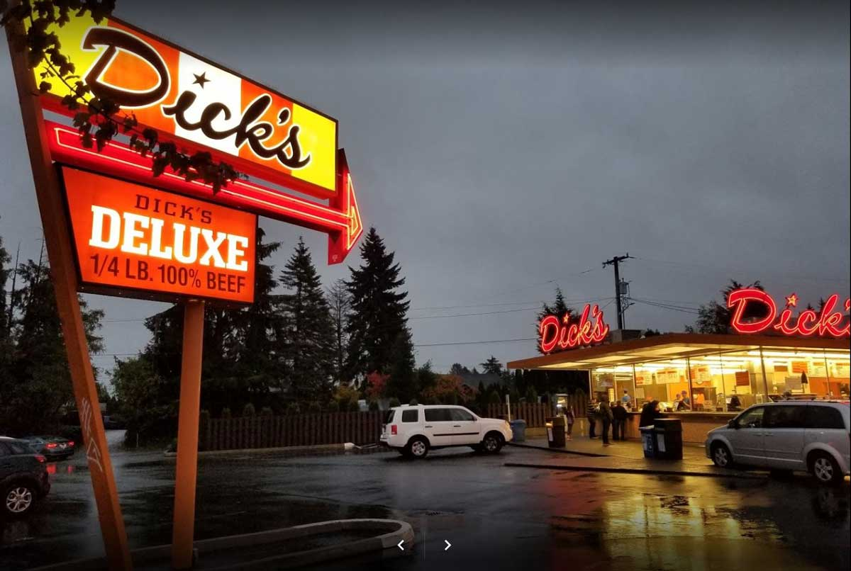 Dick's Drive In Building Exterior Street View