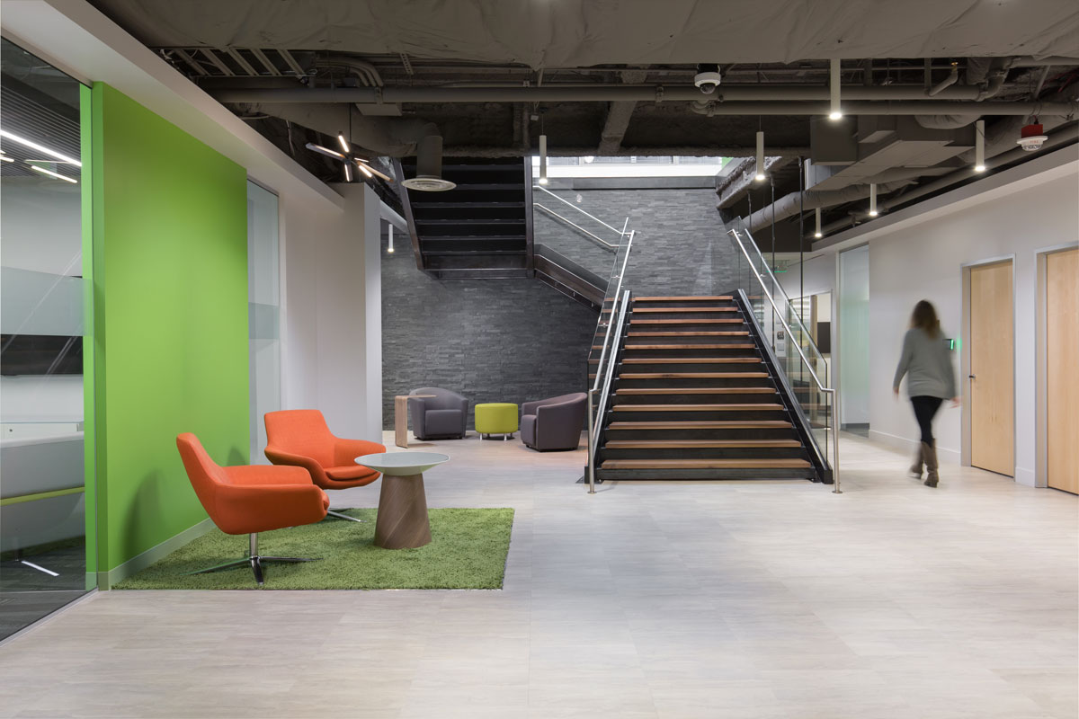 Office common area and communicator stair