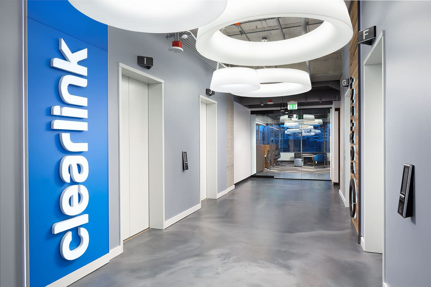 Clearlink's elevator lobby