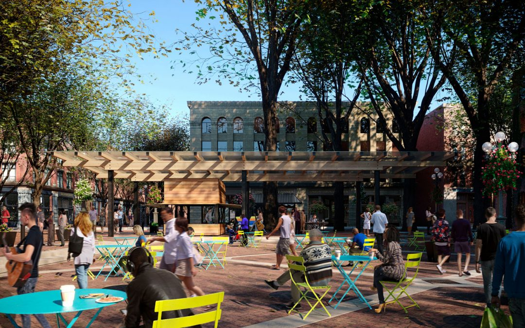 Occidental Square Pavilion Ready for Reveal in Spring 2021